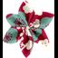 Barrette fleur étoile 4 cerisier rubis jade - PPMC