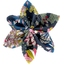 Barrette fleur étoile 4 dahlia rose marine