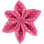 Star flower 4 hairslide etoile or fuchsia - PPMC