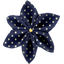 Star flower 4 hairslide navy gold star - PPMC