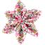 Pasador flor estrella jazmín rosa - PPMC