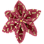 Star flower 4 hairslide ruby dragonfly - PPMC
