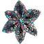 Barrette fleur étoile 4 milli fleurs vert azur - PPMC
