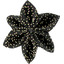 Star flower 4 hairslide noir pailleté - PPMC