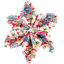 Barrette fleur étoile 4 oeillets jean - PPMC