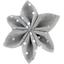Pasador flor estrella  lunares plateados  - PPMC