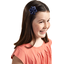 Star flower 4 hairslide navy blue spots