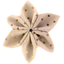 Barrette fleur étoile 4 pois cuivré rose - PPMC