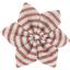 Pasador flor estrella rayado cobre - PPMC