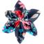 Barrette fleur étoile 4 rose argentée