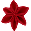 Star flower 4 hairslide red - PPMC