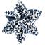 Barrette fleur étoile 4 scandinave marine - PPMC