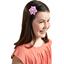 Star flower 4 hairslide fuschia gingham