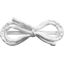 Arabesque bow hair slide white - PPMC