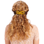 Arabesque bow hair slide yellow ochre
