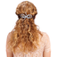 Arabesque bow hair slide light grey spots