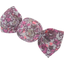 Petite barrette mini bonbon lichen prune rose - PPMC