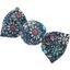 Petite barrette mini bonbon milli fleurs vert azur - PPMC