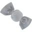 Petite barrette mini bonbon  pois argent gris - PPMC