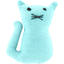 Small cat hair slide azur
