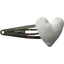 Heart hair-clips white
