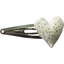 Heart hair-clips white sequined - PPMC