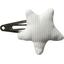 barrette clic-clac étoile blanc - PPMC