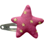 barrette clic-clac étoile etoile or fuchsia