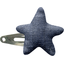 Star hair-clips light denim