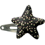 Star hair-clips noir pailleté