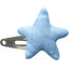 Star hair-clips oxford blue