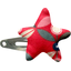 Star hair-clips paprika petal