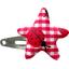 barrette clic-clac étoile vichy coccinelle - PPMC