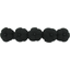 Japan flower hair slide-large size black - PPMC