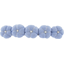 Japan flower hair slide-large size oxford blue - PPMC