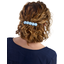 Japan flower hair slide-large size oxford blue
