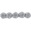Japan flower hair slide-large size light grey spots - PPMC