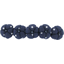 Japan flower hair slide-large size navy blue spots - PPMC