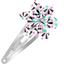 Star flower hairclip neon shards - PPMC