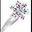 Barrette clic-clac fleur étoile eclats fluo - PPMC