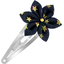 Star flower hairclip navy gold star