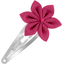 Star flower hairclip fuschia
