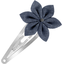Star flower hairclip light denim