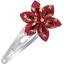 Barrette clic-clac fleur étoile libellule mini rubis - PPMC