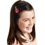 Barrette clic-clac fleur étoile pétale paprika