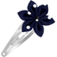 Star flower hairclip navy blue spots