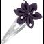 Barrette clic-clac fleur étoile pois prune