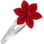 Star flower hairclip red - PPMC