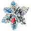 Star flower 4 hairslide azulejos - PPMC