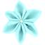 Pasador flor estrella azul - PPMC